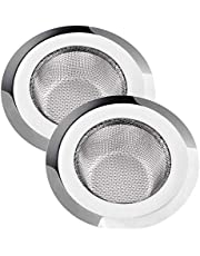 SHOPIP® Stainless Steel Sink Strainer/Drainer Net Basket/Jali/Filter Stopper for Kitchen (Large and Medium Size) - Set of 2 Pieces