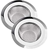 SHOPIP Stainless Steel Sink Strainer/Drainer Net Basket/Jali/Filter Stopper for Kitchen (Large and Medium Size) - Set of 2 Pieces