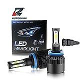 Autobahn LED Headlight 3 sided 36W x 2 8000lm (4000lm/bulb) 6500K Purewhite (H8/H9/H11) - White