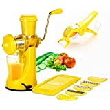 BMS Lifestyle Manual Fruit & Vegetable Juicer,6 In 1 Slicer Dicer Grater & Multi Cutter With Peeler Kitchen Combo(Set Of 8)