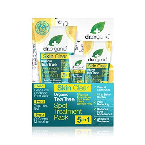 Dr. Organic Ensemble à l'Huile de Tea Tree Bio Skin Clear 185 ml