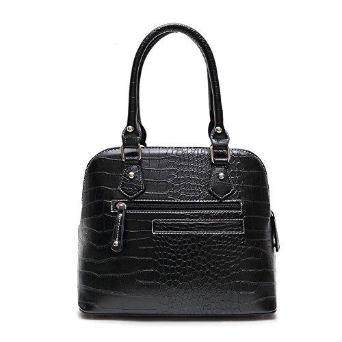 Blancho Biancheria da letto delle donne [Tipo Cuore S # 1] Borsa di cuoio Fashion PU elegante Borsa fucsia Handbag 1 - Black