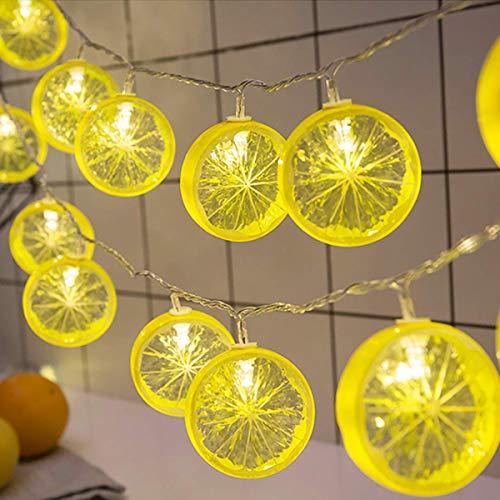e,KINGCOO 20LEDs 2M Zitronen Scheiben Sternenhimmel Feen Schnur Lichter Batteriebetrieben für Wand Raum Partei Garten Hochzeits Weihnachtsdekorationen ()