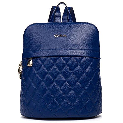 bostanten-women-cowhide-leather-backpack-purse-rucksack-school-shoulder-bag-blue