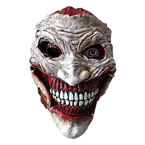 DMAR 1 Pc The Joker Cosplay Maske, Clown Kostüm Prop, schreckliche Halloween Maske fit für Party Comic Con, Klassische Bösewicht Maske, Film - Comic Bösewichte Kostüm