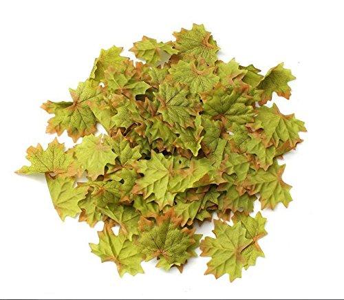 200pcs caduta foglie di seta Wedding Favor Foglia d' acero autunnale decorazioni Ornament green