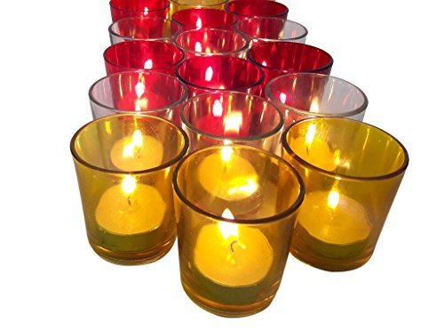 Tiedribbons® Tealight Holder Set Of 6 (Glass, Multicolor)