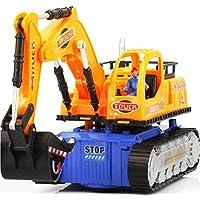 Mamum Spielzeug-Bagger mit LED-Beleuchtung und Musik, Spielzeug für Jungen, elektrisches Baufahrzeug, Baustellenfahrzeug, Spielzeug-LKw-Bagger, ideales Geschenk
