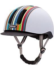 Nutcase, Casco da bici Metroride, Multicolore (Technicolor), 55 - 59 cm