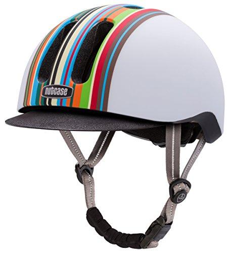 Nutcase Metroride Fahrradhelm, Black Tie matt, Mehrfarbig (Technicolor Matt), Gr. 55-59 cm