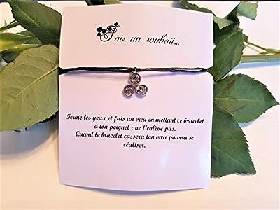 Bracelet de voeux / souhait / amitié - triskel -