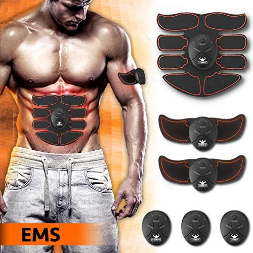 Elettrostimolatore per Addominali EMS Muscoli Scolpiti - Elettrostimolatore Muscolare Professionale per Uomo e Donna - Stimolatore Muscolare per Gambe Braccia e Addominali Scolpiti