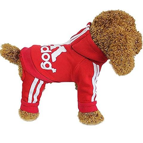 Elaiya pour animal domestique Sweat Veste à capuche Manteau quatre pieds vêtement pour chien