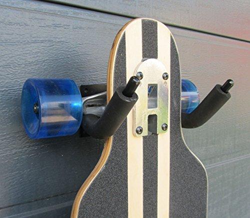 Gitarren halter Wandhalterung Skateboard Longboard Halter Stativ Ständer schwarz