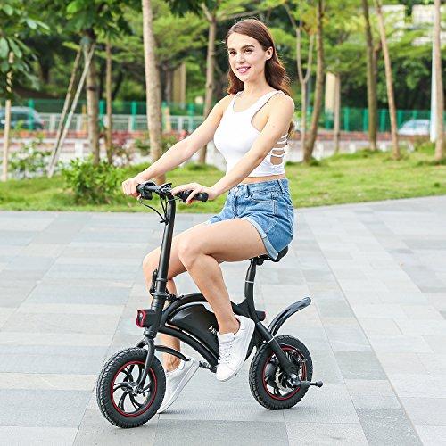 12 Zoll Faltbares Elektrofahrrad, E-Bike 30KMH Max Geschwindigkeit Klapprad E-Faltrad mit APP Geschwindigkeitseinstellung