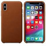 pour iPhone XS Max,Cooljun Housse en Cuir de Luxe arrière pour téléphone (Orange)
