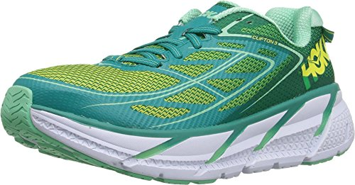 Hoka One One Scarpe da Corsa W Clifton 3 (38, Tropical Green/Spring Bud)