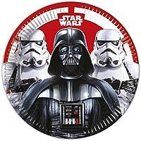 Disney 53875 Star Wars Party Decoration Plates Paper, Large, 23 cm, 8-Piece