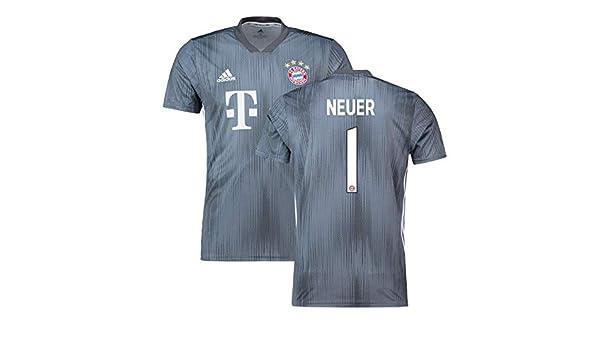 best service ae120 d6144 2018-19 Bayern Munich Third Football Soccer T-Shirt (Manuel ...