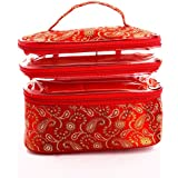 Ladybugbag Pu Durable Multipurpose Organizer Cosmetic Makeup Pouch For Women (Red, Lbb10066)