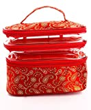 LadyBugBag Durable Multipurpose Organizer Cosmetic Makeup Pouch Utility Bag for Women (Red, LBB10066)