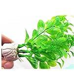 UEETEK Fish Tank Green Plastic Artificial Plants Aquarium Water Plants Decorations - PACK OF 3 11