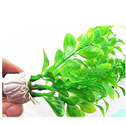 UEETEK Fish Tank Green Plastic Artificial Plants Aquarium Water Plants Decorations - PACK OF 3 5