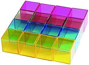 EDUPLAY KC2002 - Juego Educativo de Bloque de arcoíris (16 Piezas)