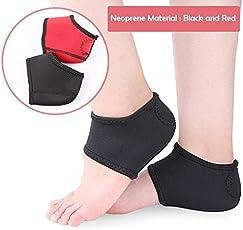 SKUDGEAR Neoprene Heel Guard Set - 2 Pieces - Heel Protectors - Relieve Heel Pain from Plantar Fasciitis - Heel Spur - Cracked Heels