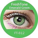 Lentilles De Contact De Couleur Emerald Green 3Tons 12 Mois sans correction