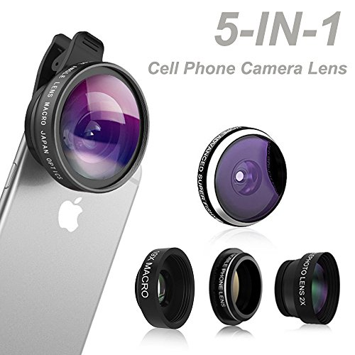 comsun-5-in-1-universal-clip-on-cell-phone-camera-lens-kit-235-degree-fisheye-lens-04x-wide-angle-le
