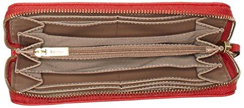 Calvin Klein Jeans - Mish4 Large Ziparound, Portafogli Donna Rosso (Rot (LIPSTICK RED 635))