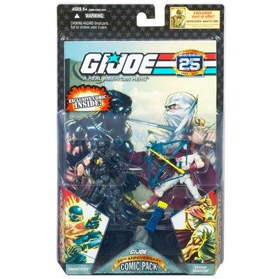 GI Joe - 25th Anniversary - Comic Pack - G.I. Joe Ninja SNAKE EYES & Cobra Ninja STORM SHADOW - incl. Exclusive Comic