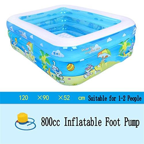 Badewanne Aufblasbare Badewanne / Pool Paddling Pool Sea Ball Pool für Kinder / Baby / Familie mit Fuß / Elektrische Pumpe Geeignet für 1-2 Personen (120 * 90 * 52cm) Aufblasbare Badewanne ( ausgabe : Foot Pump ) 3-fuß-aufblasbares Pool