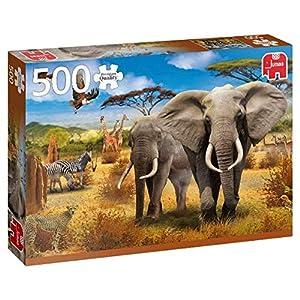 Premium Collection African Savannah 500 pcs Puzzle - Rompecabezas (Puzzle Rompecabezas, Fauna, Niños y Adultos, Niño/niña, 12 año(s), Interior)
