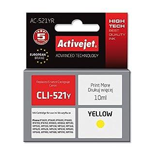 ActiveJet EXPACJACA0096 Tinte AC-521YR Refill für Canon CLI-521Y, gelb