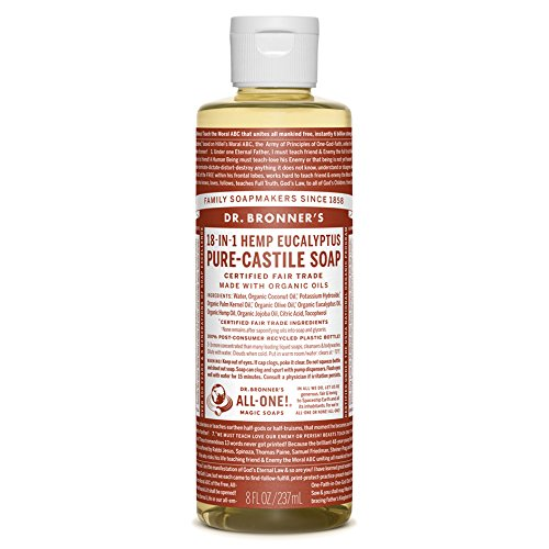 Dr. Bronner's Magic Soaps: Liquid Castile Soap, Eucalyptus 8 oz by Dr. Bronner's -