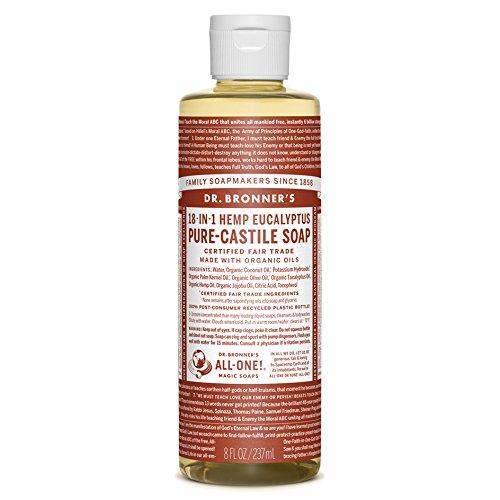Dr. Bronner's Magic Soaps: Liquid Castile Soap, Eucalyptus 8 oz by Dr. Bronner's -