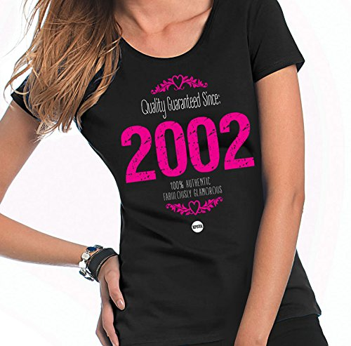 m 16. Geburtstag 2000Mädchen Geburtstag Geschenk, personalisierbar 16. kepster Sheer T-Shirt, Textil, schwarz, 16 - 18 (Sweet Sixteen-ideen)