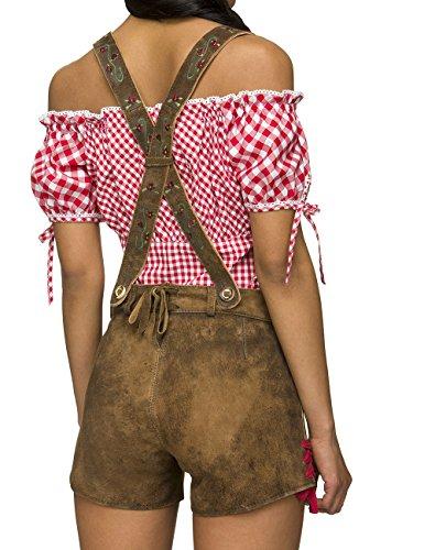 Stockerpoint Damen Lederhose Hose Raffy Braun (biber antik) ...
