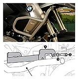 MotorbikeComponents, Protezione serbatoio tubolare Argento si applica solo con paracilindri originale BMW - BMW R 1200 GS / Adventure 2007