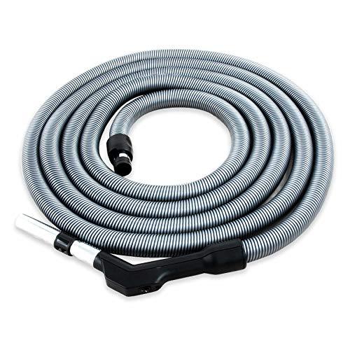 Zentralstaubsauger Schlauch Komfort, passend für viele Anbieter, Länge 7,5m, Öffnung Saugdose ca. 37 mm, Anschluss Staubsauger-Zubehör 32 mm