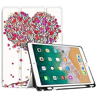 Fintie iPad Pro 10.5 Case with Apple Pencil Holder - [SlimShell] Ultra Lightweight Standing Protective Cover with Auto Wake/Sleep for Apple iPad Pro 10.5 Inch Tablet (2017 Release), Autumn Love