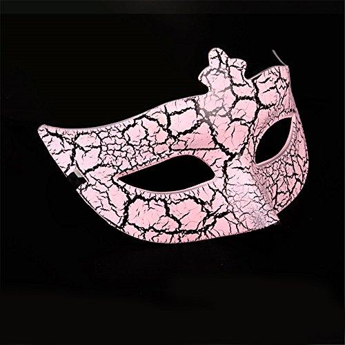 Halloween Masken Make-up Tanz Show Gebäck Party Prinzessin Beauty Electroplated Malerei Crack Masken,Pink