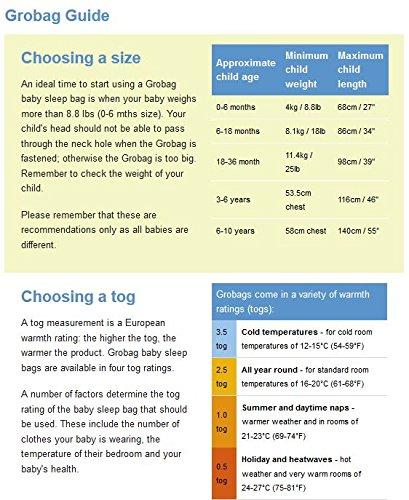 511KXPvAHvL - Grobag Pack de 2 Sacos para dormir bebé 1.0/2.5 tog, Multicolor,