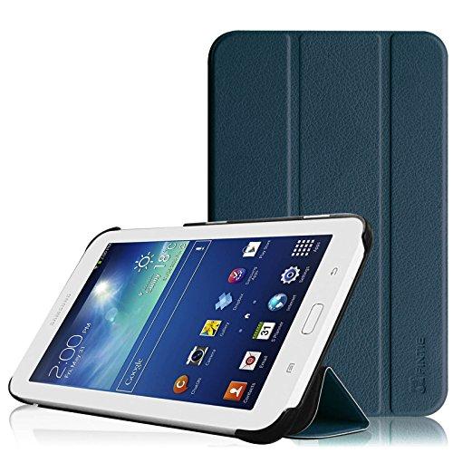 Fintie Hülle für Samsung Galaxy Tab 3 7.0 Lite T110 T111 T113 T116 - ultradünn Schutzhülle Tasche SlimShell Cover mit Ständer für Galaxy Tab 3 7.0 Lite (7 Zoll) Tablet, Marineblau