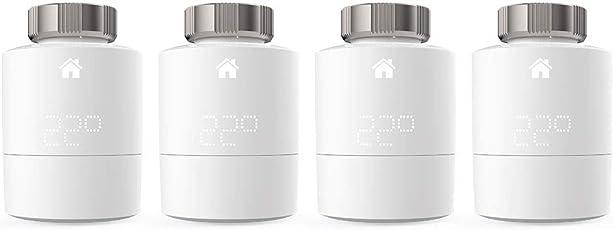 tado° Smartes Heixzkörper-Thermostat - Quattro Pack, Zusatzprodukte für Einzelraumsteuerung, intelligente Heizungssteuerung