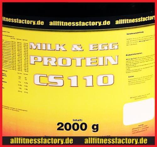 M&E Protein CS 110 4kg Milk&Egg Eiweiß Muskelaufbau Vanille (EUR16,23/kg) (Egg Vanille Protein)