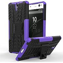 Sony Xperia C5 Ultra Funda - MoKo Heavy Duty Rugged Dual Layer Armor con Kickstand Protective Funda para Sony Xperia C5 Ultra 6.0 Inch Smartphone 2015 Release, Violeta