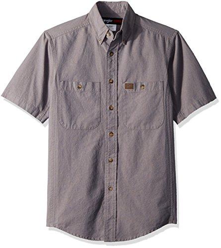 Chambray-utility Shirt (Wrangler Men's Riggs Workwear Chambray Work Shirt, Granite, XL)